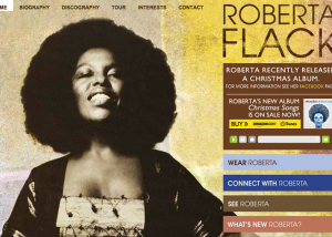 Studio 678 Portfolio - Roberta Flack Homepage